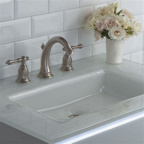 custom vanity top with integrated sink balletto collection vanity glass top w integrated sink or