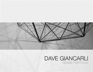 Design Portfolio Cover Idea Dave Giancarli