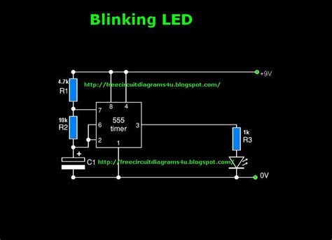 Free Circuit Diagrams Blinking Led Diagram