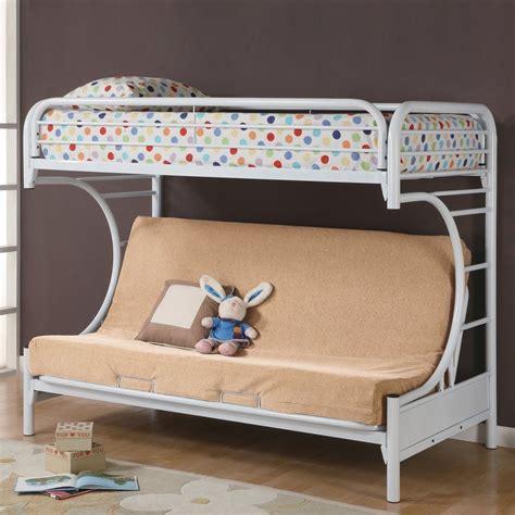 futon bunk bed coaster furniture 2253w futon quot c quot bunk bed