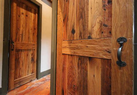 custom rustic doors reclaimed wood interior doors in oak