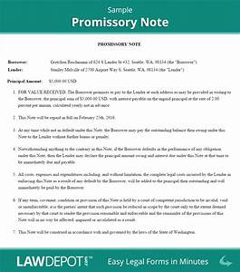 promissory note form free promissory note us lawdepot With loan note document