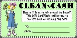 7 best images of printable house cleaning certificate for House cleaning gift certificate template