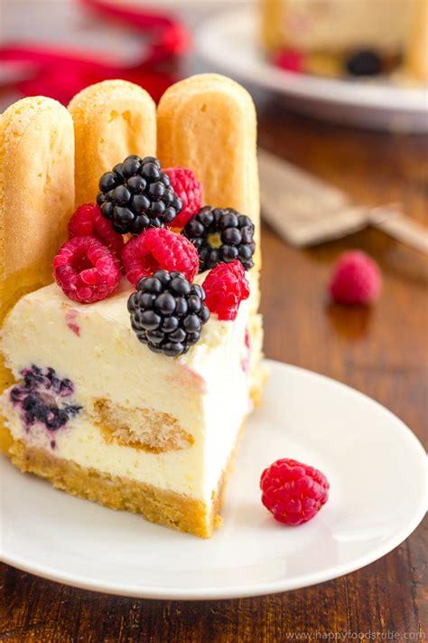 mixed berry charlotte cake recipe happy foods tube