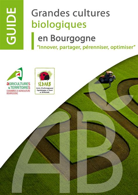 chambre agriculture bourgogne calaméo guide bio version bd