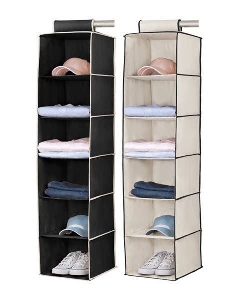 no mess no lose hanging closet organizer from lowes