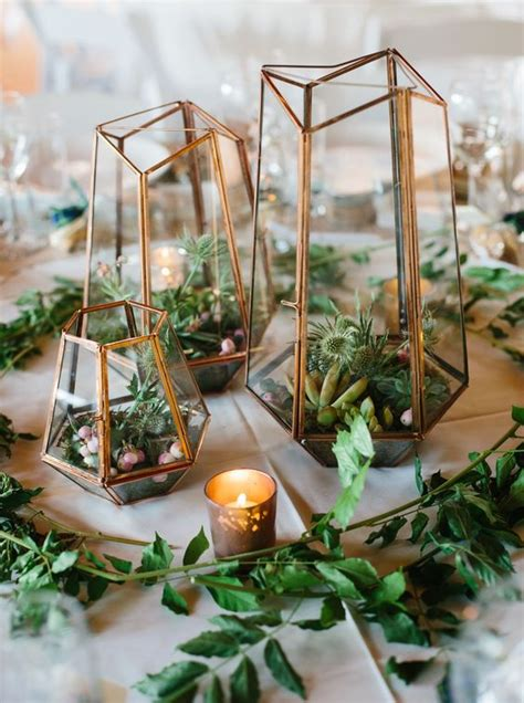 elegant succulent wedding centerpiece ideas roses rings