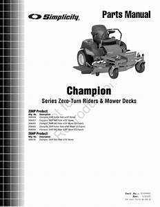 Simplicity Champion 2690449 Parts Manual Partsmanual