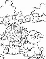 Coloring Farm Printable Crops Dog Farmer Harvest Getcolorings Colouring Getdrawings Jobs Source sketch template