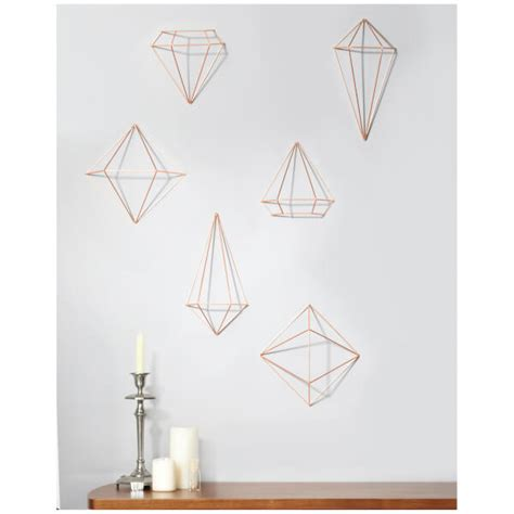 Extensive collection of umbra design funky the modern homeware ranges include multi aperture photo frames, planters, mirrors, shelves, wall clocks, wall decor, waste bins, wall hooks. Umbra Prisma Wall Decor - Copper - Free UK Delivery over £50