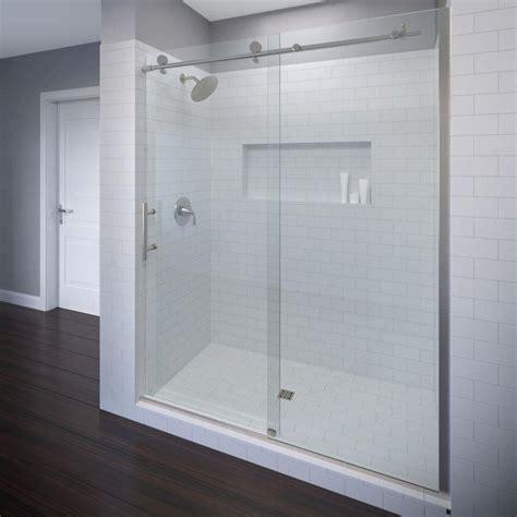 basco shower door basco vinesse 47 in x 76 in semi framed sliding shower