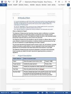 Word Document Template Download Statement Of Needs Template Ms Word Templates Forms