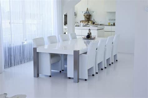 DeMaakFabriek.com: Eettafel hoogglans wit   RVS