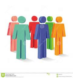 Colored People Figures