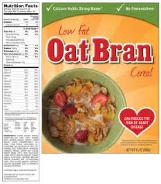 Cereal Food Labels