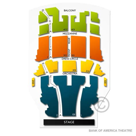 chicago venue guide privatebank theatre formerly bank of america bank theater seating cabinets matttroy