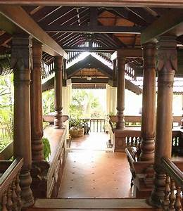 Verandah located at the front of a traditional Kerala ...