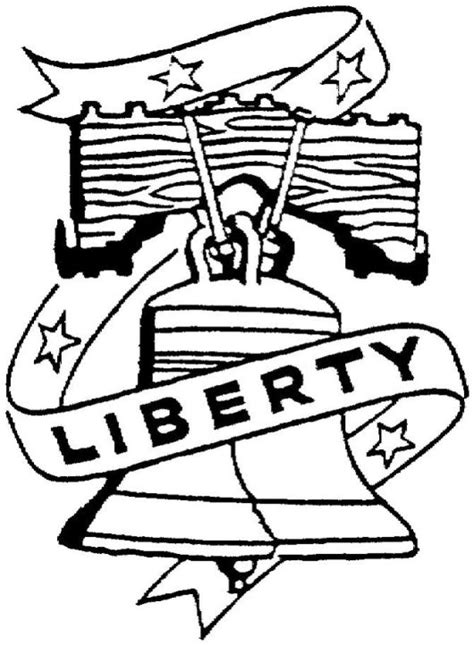 Liberty Bell Coloring Page Printable by Liberty Bell Coloring Pages For Children S Lesson