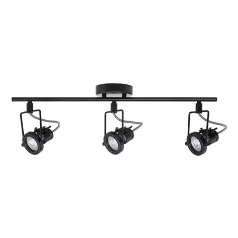 black led track lighting kits hton bay 1 975 ft 3 light black led track lighting kit