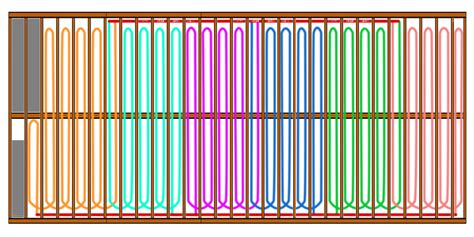 pex radiant floor heating layout ideal pex routing for underfloor install heating help