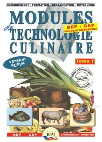 edition bpi cuisine le livre modules de technologie culinaire be 2857084250