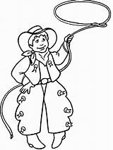 Cowboy Coloring Pages Coloringpages1001 sketch template