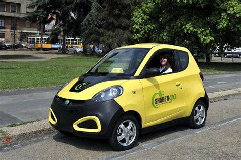 milano il car sharing elettrico  cinese