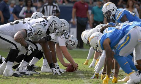 afc west standings chargers jump   place  division