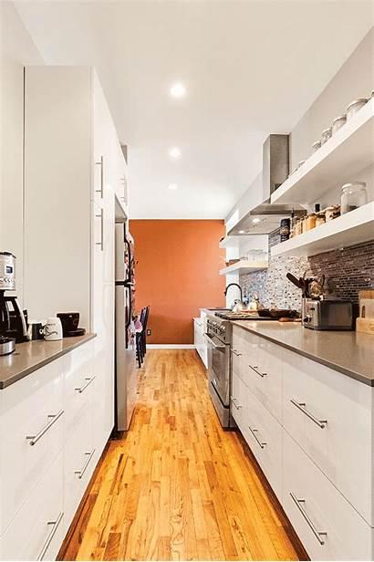 Kitchen Backsplash Tile Galley Modern Dramatic Makes