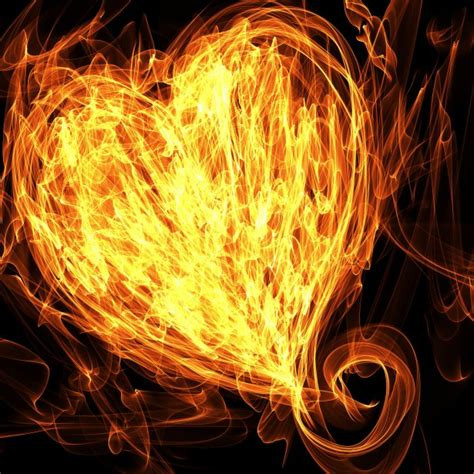 flaming heart illustration  stock photo public