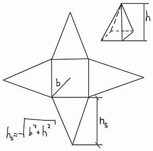Höhe Von Pyramide Berechnen : quadratische pyramide seitenkante s und h he hs berechnen ~ Themetempest.com Abrechnung