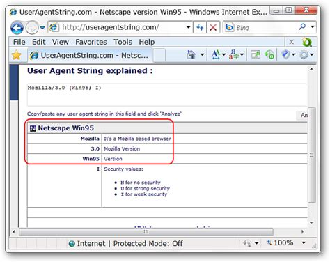 agent user string explorer internet change switcher conclusion ie