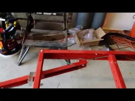 harbor freight floor cross beam harbor freight utility trailer assembly part 2 fabricate