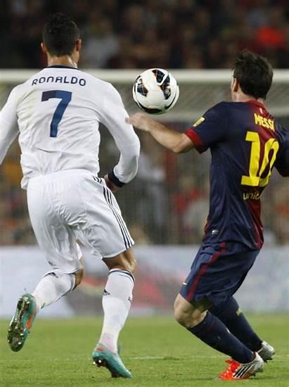 Messi Ronaldo Cristiano Lionel Barcelona Madrid Fight