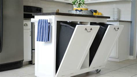 kitchen island with trash bin 10 hacks for your kitchen island