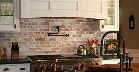 faux brick  kitchen backsplash fresh kitchen stacked