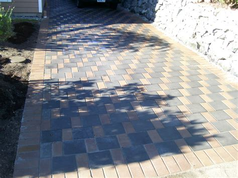 driveways and installation of pavers seattle pavers