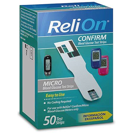 relion confirm micro blood glucose test strips ct
