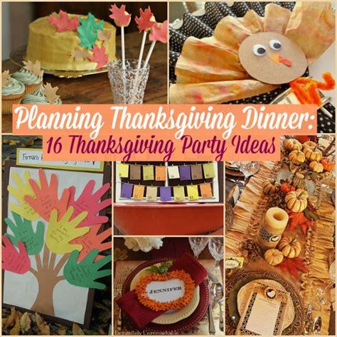 thanksgiving party ideas allfreeholidaycraftscom