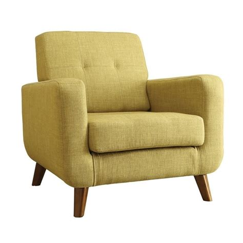 coaster mid century modern accent chair in green 902482
