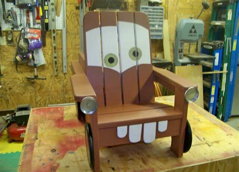diy quot tow mater quot adirondack chair trusper