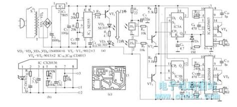 Infrared Control Electronic Welcome Device Circuit Diagram