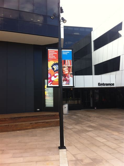 banner pole project  manningham council intrack