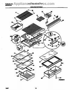 Parts For Frigidaire Frt21tncd5  Shelves    Controls Parts