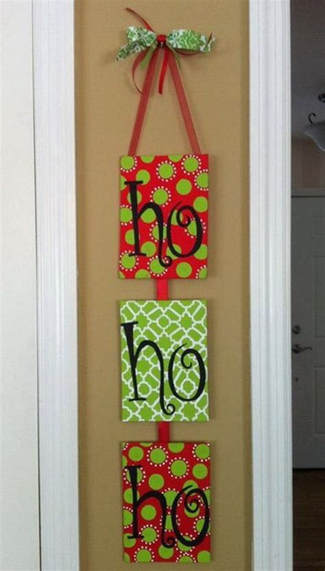 homemade christmas door hanger decoration ideas family