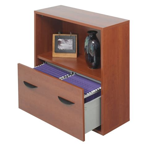 Bookcase With Lateral File Drawer by Safco Lateral Filing Cabinet With Bookshelf Cherry