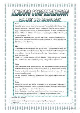 69 free esl back to school worksheets