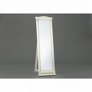 Miroir 180 Cm : miroir sur pied ornement 180cm en bois patin blanc ~ Teatrodelosmanantiales.com Idées de Décoration
