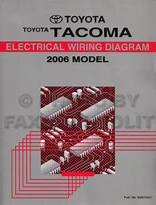 2006 Toyota Tacoma Pickup Wiring Diagram Manual Original