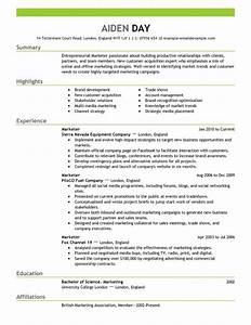 marketing resume template With best marketing resumes